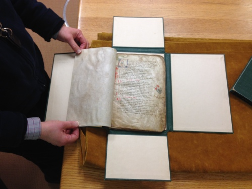 The oldest item in the collection, a vellum Aesop's Fables from the 14th Century.